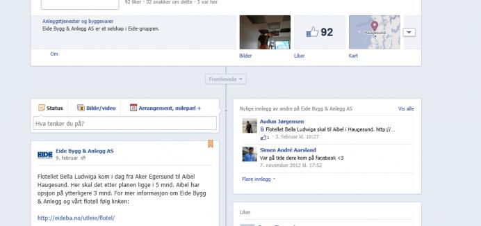 Eide Bygg & Anlegg på Facebook