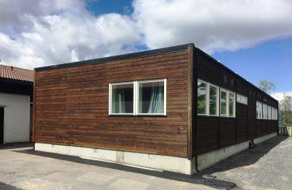 New school pavilion in Gloppen Municipality.
