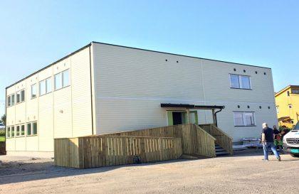 New modern school building to Meland Municipality.
